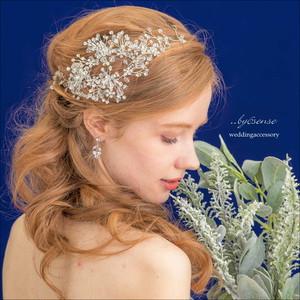 小枝ビジュ―ヘッドドレス ~ウェディングヘアアクセサリー(hs0003)