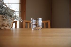 ガラス/銀の糸マーブルグラス(珈琲)小/空西あかね
