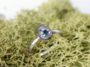 ハリネズミの指輪 ブルートルマリン