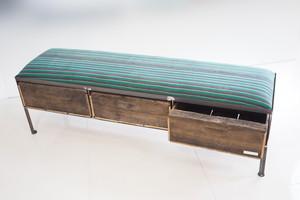 品番UAZ3-101  3drawer ottoman[nerrow/ アフリカ グリーン Tribal rug]