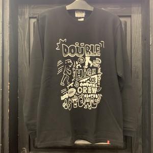 DOUBLE STEAL : POP GRAFITTY L/S TEE  / BLACK Mサイズ