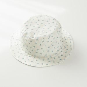 小花柄/洗える夏の日よけ帽子