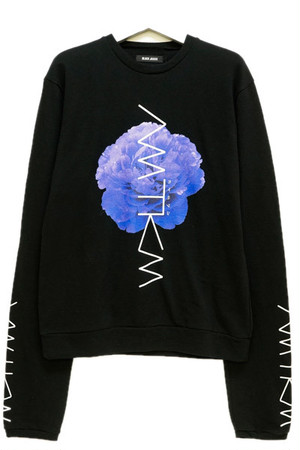 「牡丹/Peony」Long Sleeve Sweat Black