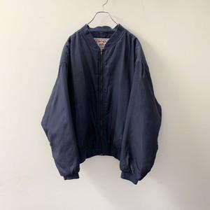 campus silk シルクブルゾン ネイビー size XL メンズ 古着