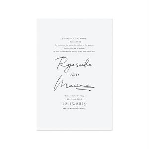 巻き三つ折り席次表[Urban Letter] 長方形(10部¥11,000〜) | 結婚式・ウェディングペーパーアイテム・海外風・カリグラフィー