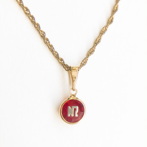 """""""NINA RICCI"""" red necklace[n-277]ヴィンテージネックレス"""