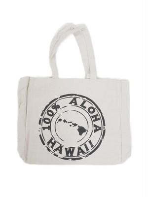キャンバス 100% ALOHAバッグ  Hawaii BLACK / ハワイアン