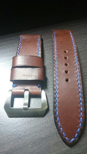 sold)ハンドメイド時計Strap24mmDarkBrown(29)