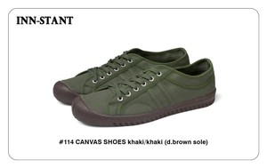 #114 CANVAS SHOES khaki/khaki (brown sole)  INN-STANT インスタント 【消費税込・送料無料】