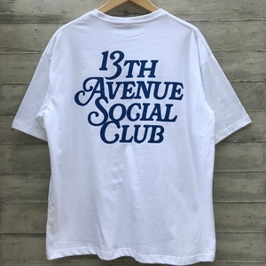 13th Avenue Social Club 5,6onz big silhouette T-shirts col.wht