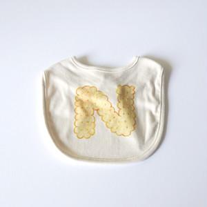 【受注生産】 ビスケットアルファベット スタイ (プレーン) ● organic cotton 100%