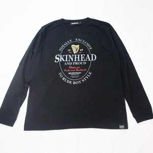 SKINHEAD AND PROUD Long Sleeve Tシャツ  Black