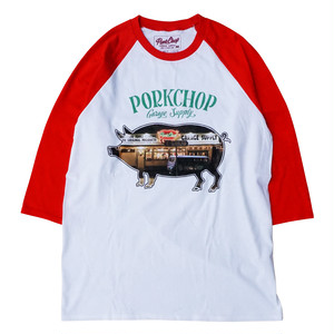 SHOP PHOTO RAGLAN TEE/RED