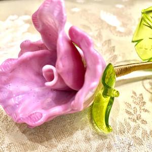 Item104 ヴェネチアンガラス ローズ ローザ ガラスのバラ