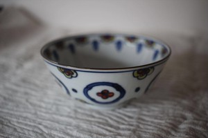 萠窯|飯碗色絵梅