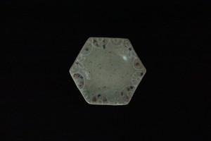 綿摘み陶房 六角皿(ピンク)