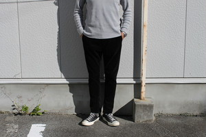 SANDINISTA / Cord Slim Zip Pants