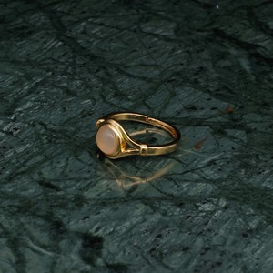 SINGLE MINI STONE DECO RING GOLD 003
