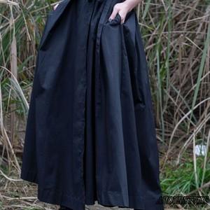 2019 春 夏 レディース スカート 袴風 和風 シック モダン 黒 ブラック モード系 ヴィジュアル系ヴィジュアル系 501