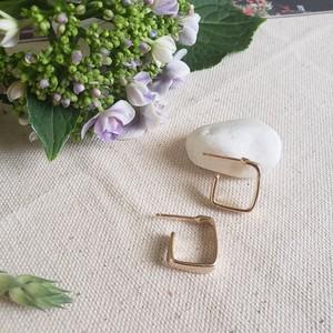 【送料無料】silver925 Square hoop pierce (スクエアフープピアス)