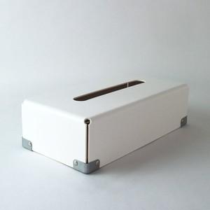 concrete craft (コンクリートクラフト)BENT Tissue box ホワイト W12,5 × D25 × H7cm パスコ ティッシュボックス 収納 Craft One