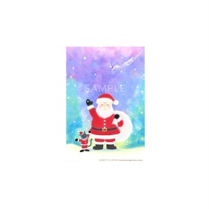 【選べるポストカード3枚セット】No.146 クリスマスサンタ猫