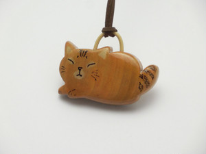 桂の猫ペンダント P1232