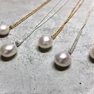 【LN-14SV】Baroque pearl pendant