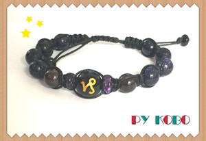 Zodiac star sign and birthstone bracelets