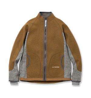 【and wander】air wool jacket