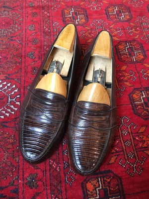 .BALLY LIZARD LEATHER COIN LOAFER/バリービスポークリザードレザーコインローファー 2000000046259