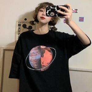 【トップス】レトロストリート系プリント半袖Tシャツ26974235