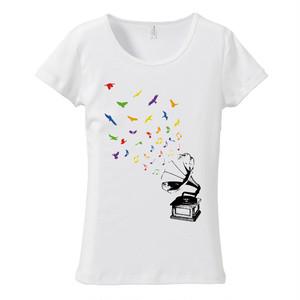 [レディースTシャツ] Bird's timbre