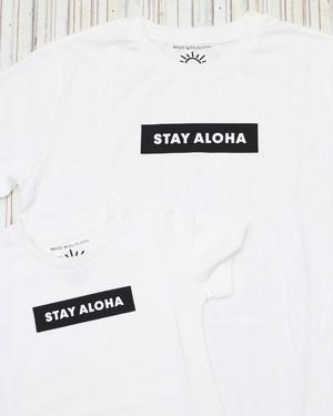 キッズ STAY ALOHA プリントTシャツ✰送料無料 [210011]