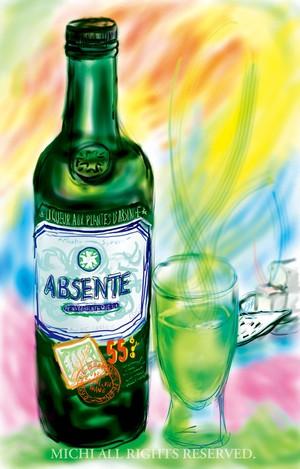 ABSENTE(アブサン) (ジクレーA3プリント)