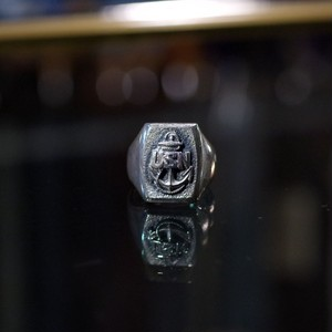 WW2 US NAVY Vintage Silver Ring / 40年代 USN Sterling シルバー リング