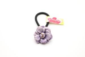 有田焼 花 ヘアゴム 紫