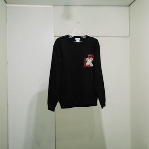 -Checked Pin-Sweat Shirt