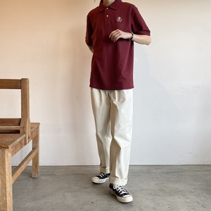basic polo shirt【burgundy】