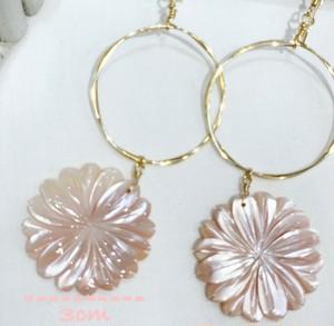 Shell flower Earrings 14KGF