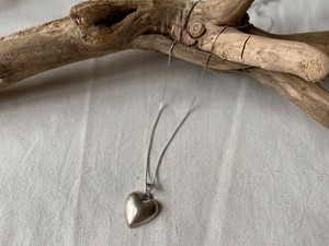 〈vintage silver925〉puffy heart necklace