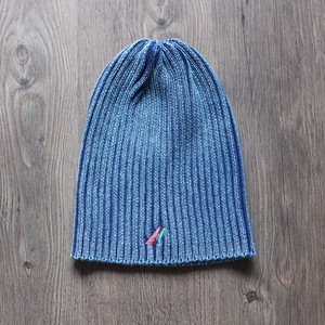 washed beanie blue