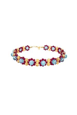 Glass Beads Flower Choker