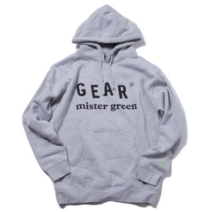 MISTER GREEN GEAR EDITION LOGO HOODED SWEAT SHIRT(HEATHER)