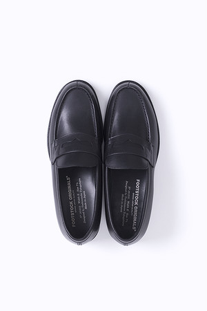 FOOTSTOCK ORIGINALS / LOAFER BLACK - STEER