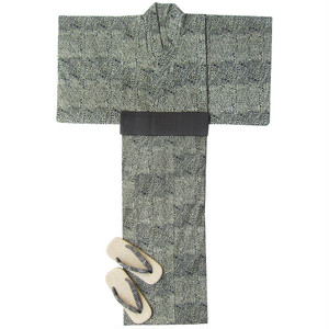 アフリカ布の浴衣5 男物XL  豹/ African Yukata 5 for Men Size XL