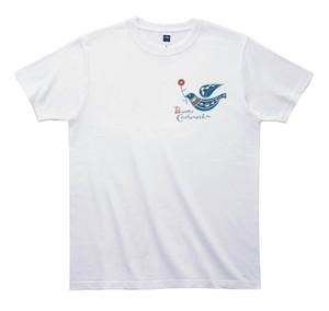 《きくちりえTシャツ》TK005/  ハト2