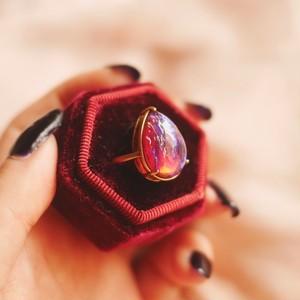 リング(指輪)ドラゴンブレスガラス フリーサイズ Vintage Ring