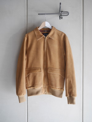 THE UNION / T-2 LEATHER JACKET (BEIGE)