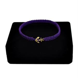 【無料ギフト包装/送料無料/限定/即納】K18 Gold Anchor Bracelet / Anklet Purple【品番 17S2010】